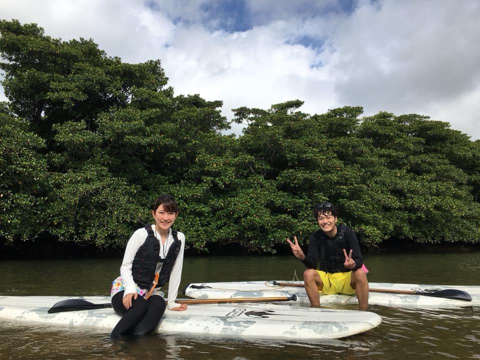 初めての方でも安心して下さい、石垣島のマングローブSUP