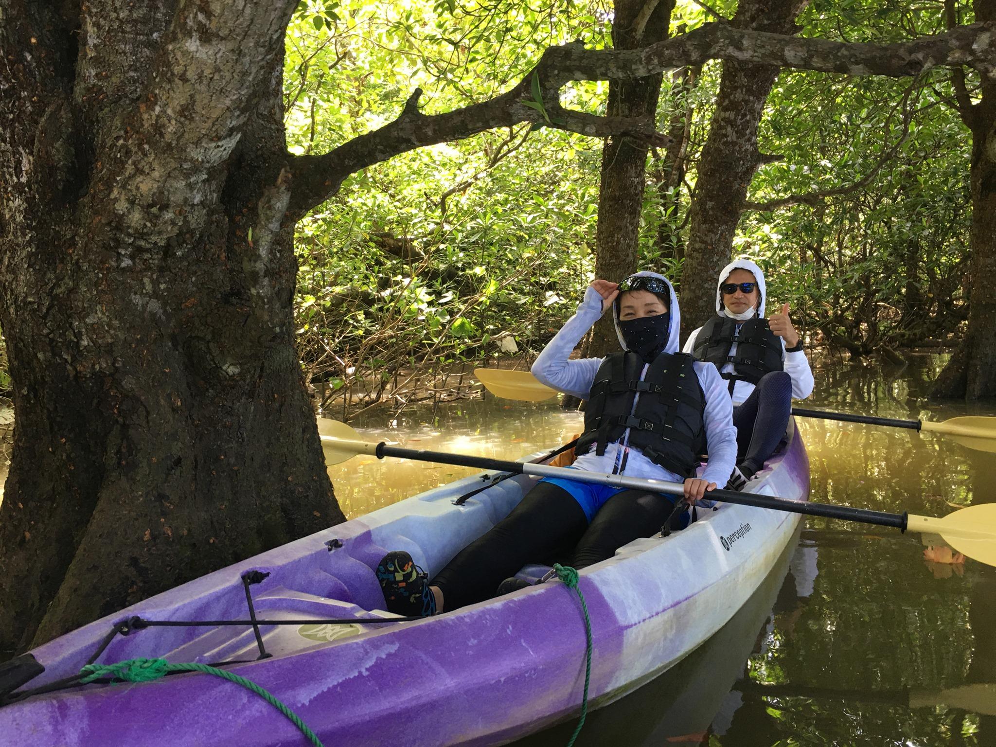 マングローブの中へカヌーでお邪魔します 石垣島で旅行