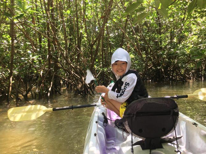 カヌー大好き息子さん、石垣島旅行
