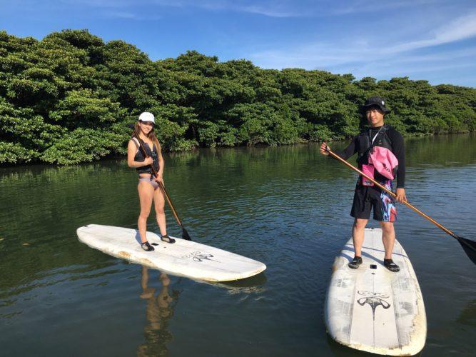 石垣島のマングローブSUP
