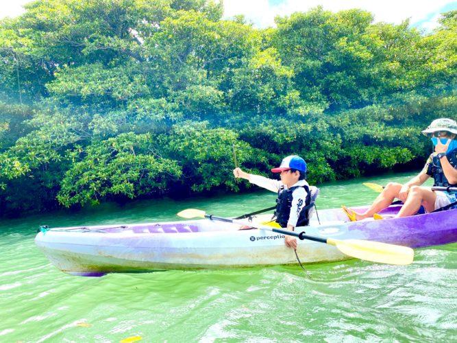 石垣島のマングローブカヌーでゲストが撮ってくれた写真2