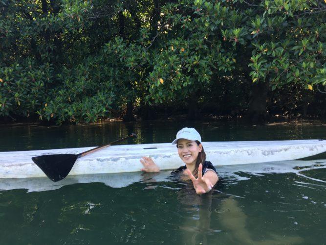 休憩中|石垣島のマングローブSUP