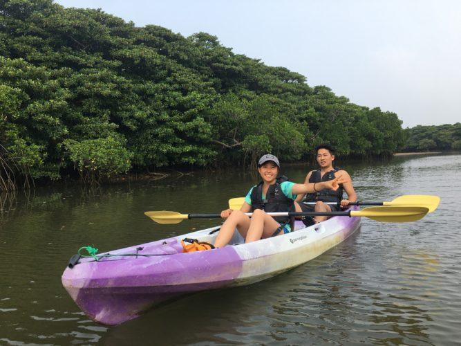 石垣島のマングローブカヌー、カップルさんのご参加