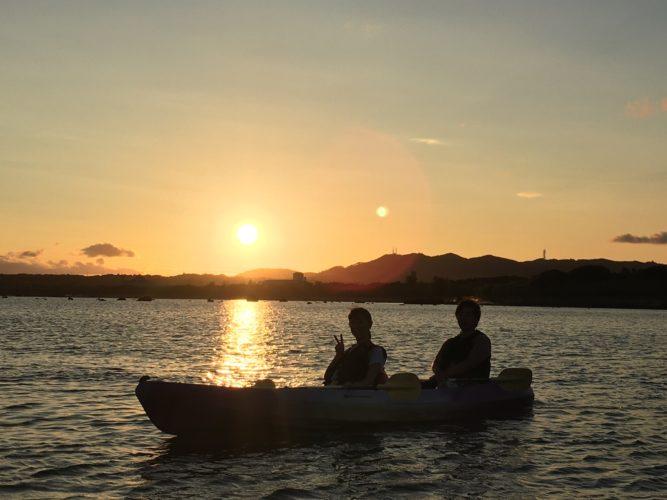 夕焼けとカヤックと石垣島
