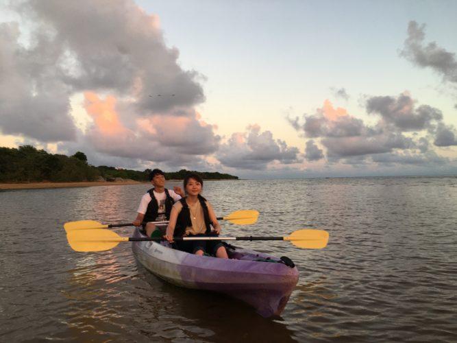 石垣島のサンセットとカヌー