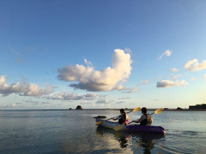 石垣島の海でカヌー