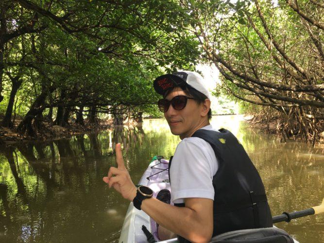 カヤックに乗って石垣島のマングローブへ