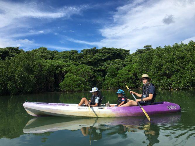お父さんと息子さんで、石垣島マングローブカヌー男子チーム