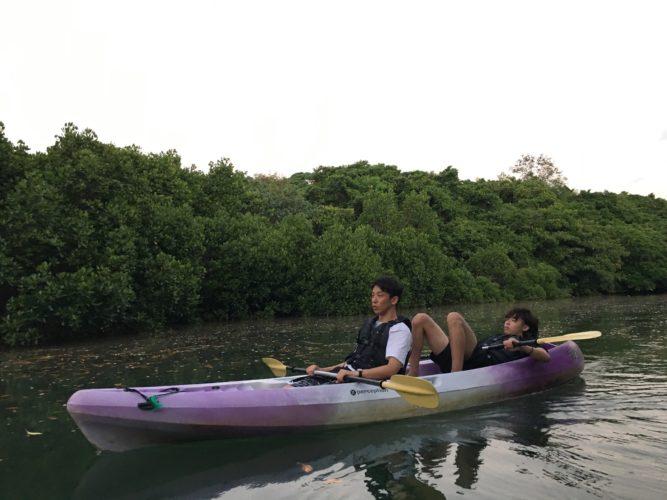 のんびりカヌーに揺られてマングローブを進みましょう