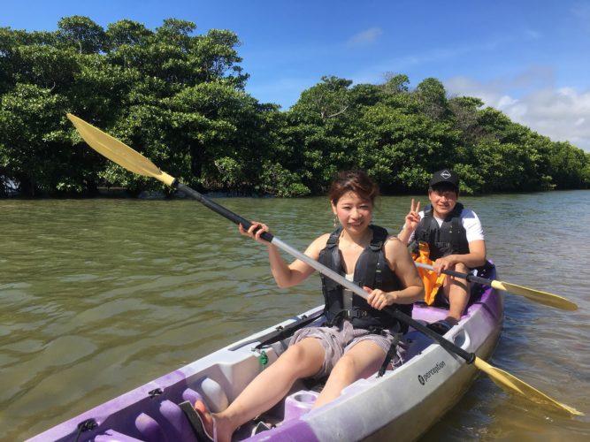 石垣島に遊びに来たカップルさんとカヌーで遊ぼう!