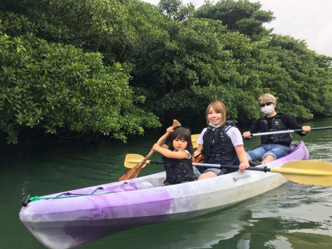 小さなのお子様もカヌーに乗船|石垣島ガイドCHORO