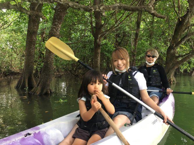 大きなカヌー安定感バッチリ|石垣島ガイドCHORO