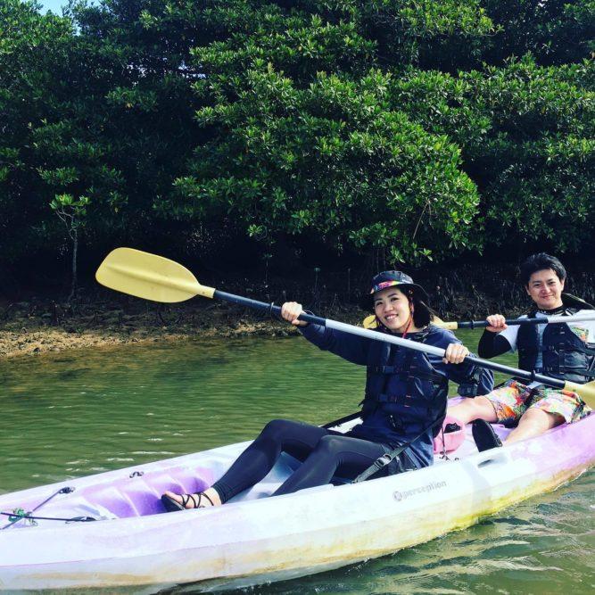 楽しいアクティビティ、石垣島のマングローブカヌー